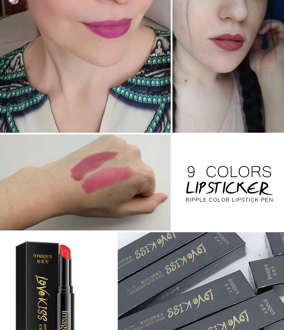 Nude Sexy Lipstick red Lipgloss Long lasting Pigment Matte Lipstick Women Fashion Makeup Cosmetic Valentine's GIFT private label 9