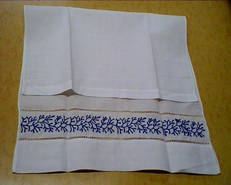 Set Of 12 Home Garden Hand Towels Linen Hemstitched Tea Towel 14X22