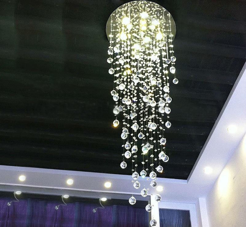 Modern Comtemporary Rain Drop Top K9 Led Crystal Chandelier Ceiling Lighing Fixture For