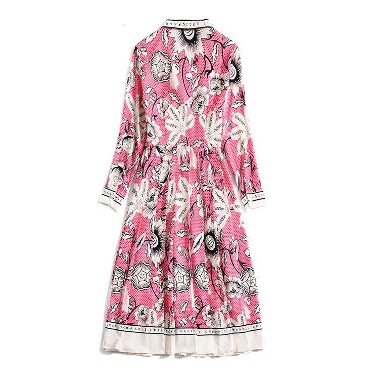 Robes Automne Arc Rose Chemise Printemps Ul048 2018 Plissée 8q5uyxgw5n