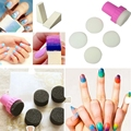 1 Set Polish Transfer Decoration Shade Template Glitter Stamper Sponge Nail Art Manicure Brushes Soft Stamp Refill