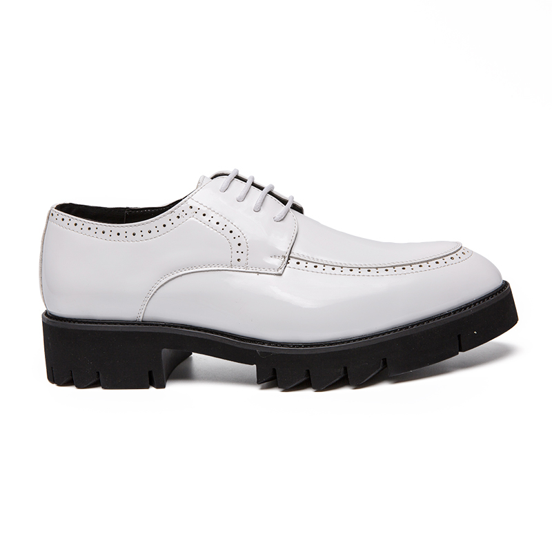 05c51819cba ... designer platform formal men leather shoes elegant italian high heel  brand dress male footwear business brogue ...