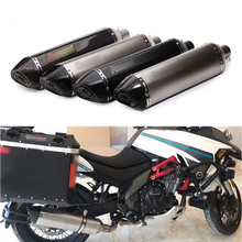 Universal 38-51mm Silencer System Modified Motorcycle Exhaust Muffler Pipe Carbon Fiber Removable DB Killer For Yamaha TMAX530 for universal 36 51mm modified exhaust motorcycle silencer exhaust pipe carbon fiber for suzuki hayabusa gsxr1300 dl1000 v strom