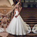 HS485 ball gown lace up back wedding dresses 2016 plus size lace pearl wedding dress sweetheart ball with satin sashes vintage