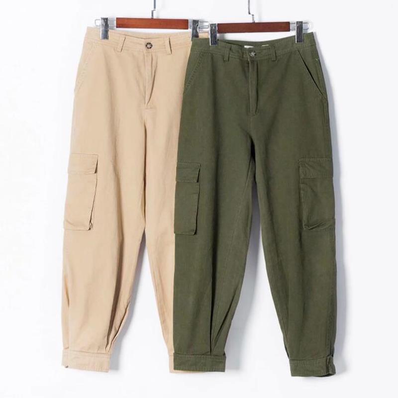 High waist   pants   pockets loose joggers women army harem camo   pants   streetwear punk cargo   pants     capris   trousers korean clothes