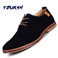 TOURSH Shoes Men Casual Leather Suede Men Shoes Casual Suede Shoes For Men Krasovki Men Casuals Suede Shoes Mens