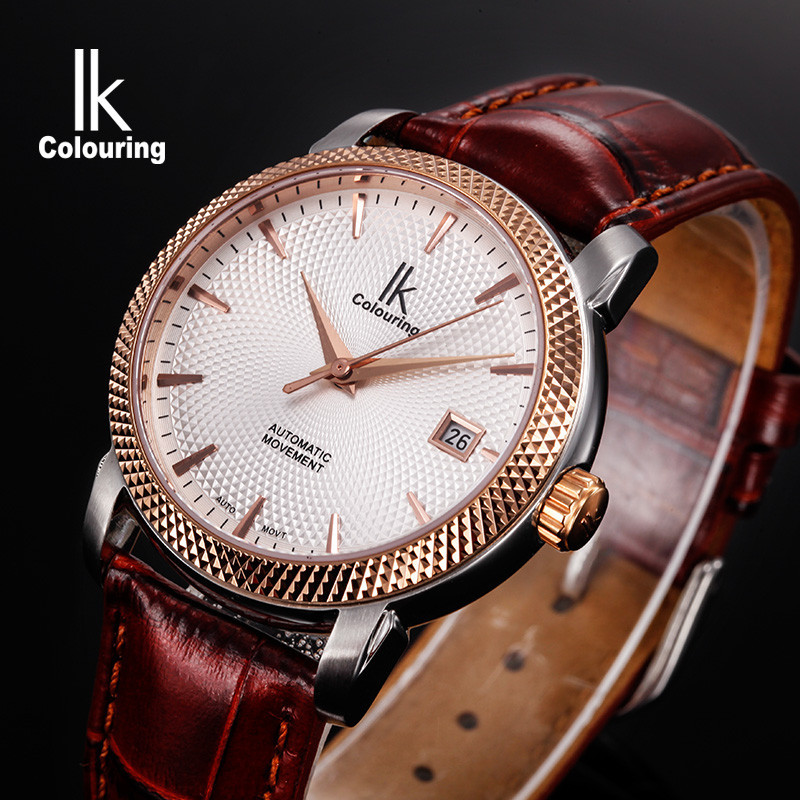 Ik for male watch fully automatic mechanical watch mens watch casual male watch