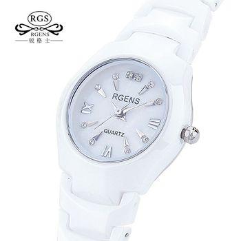 Женские часы из 100% керамики, белые, черные водонепроницаемые женские кварцевые наручные часы, модные часы с календарем и бриллиантами, нови...