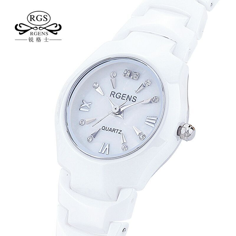 Woman Watches 100% Ceramic White Black Waterproof Womens Quartz Wristwatches Fashion Diamond Calendar Ladies Clocks 2018 New