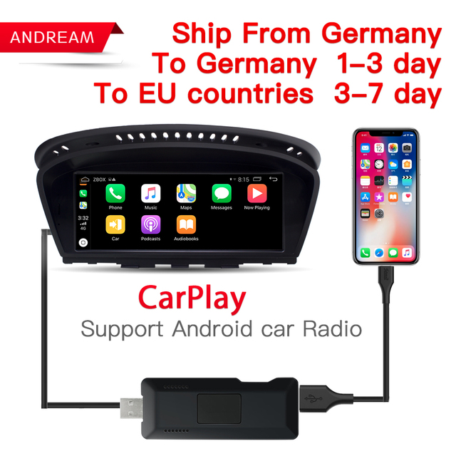 US $75 0 |Carlinke USB Smart Link Apple Carplay Dongle box for Android  Navigation DVD Radio Player Mini USB Carplay Stick for Apple IOS-in TV  Receiver