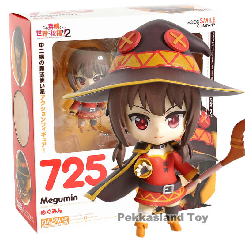 Nendoroid 725 Konosuba Megumin PVC Action Figure Collectible Model Toy