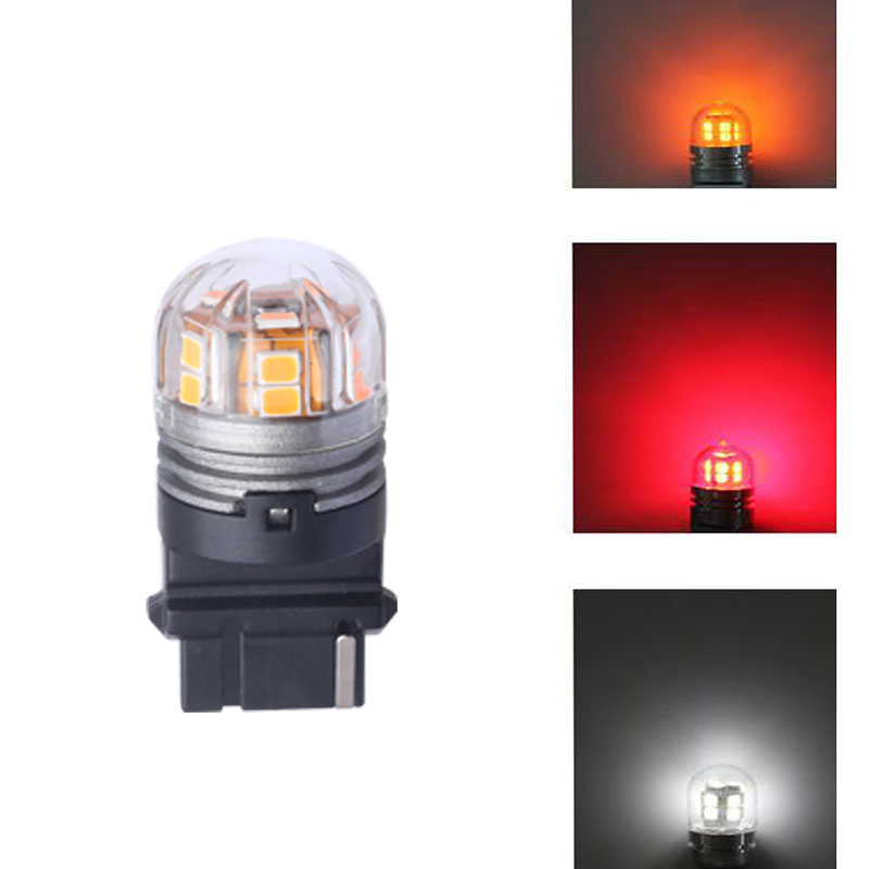 Pair 3157 Automobile LED Car Bulbs Brake Lights High Quality Factory Sale Yellow Lights LED Light