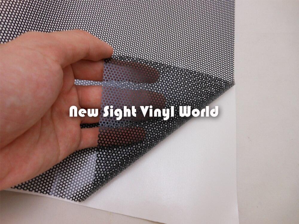 Filme perfurado da malha da matiz do farol dos gráficos da visão spi como o olho da mosca 1.07x50 m/rolo - 4