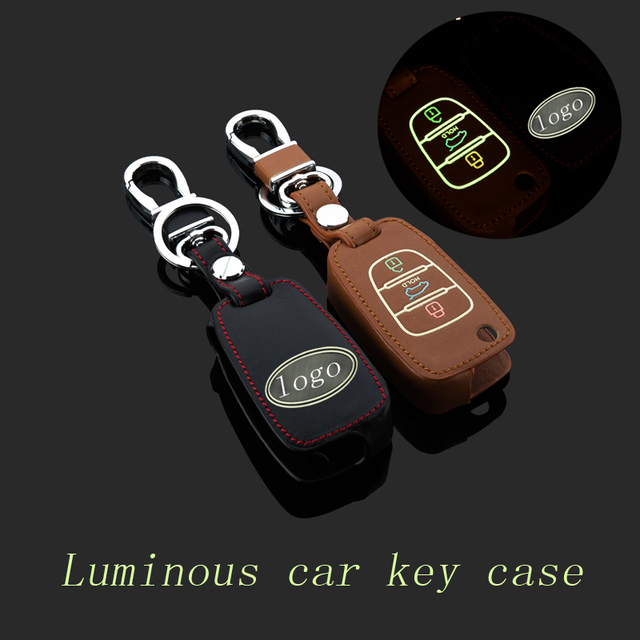 Leather Car Keychain Key Fob Case Cover for  Kia K2 K5 Sorento Sportage/SportageR Key Holder Rings wallet Auto Accessories