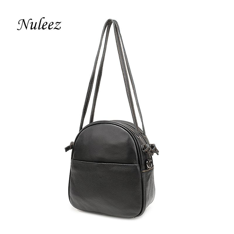 Nuleez истински кожени кожа чанта жени ръчно изработени чанта с дълги и къси ремъци Китай ръчна търговия на едро промоция 1229