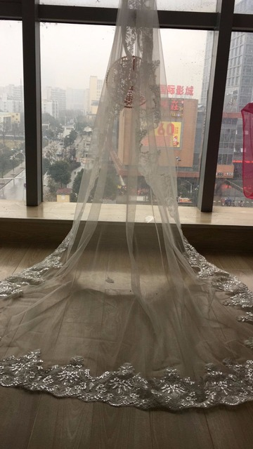 New Wholesale Simple White Hot Sale Tulle Wedding Veils Two Layer Ribbon Edge Custom Made Bridal Accesories