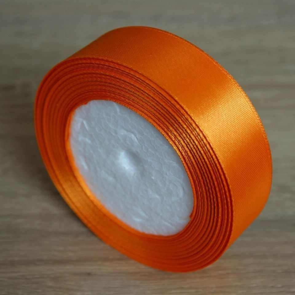25mm de ancho cinta de satén liso 25 yardas/bolsa DIY materiales hechos a mano regalo envoltura lazo para el cabello vacaciones boda decoración cinturón 2,5 cm