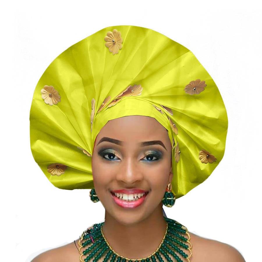 New design auto gele african headtie party african head wraps wedding african turban (9)