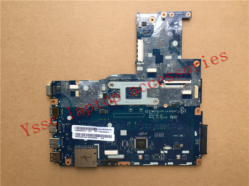 Free shipping New ZIWB0 B1 E0 LA B102P mainboard for Lenovo B50 30 notebook Motherboard for
