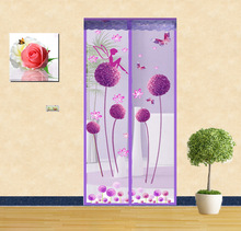 The summer wear free magnetic mosquito curtain magnetic soft screen door magnet bedroom curtain. A mute
