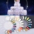 Nuevo Brillo Espejo Mágico Polvo Del Polvo Del Brillo Del Clavo de DIY Art Puntas Lentejuelas Decoración Herramientas de Manicura Cepillo Pigmento de Efecto Cromado