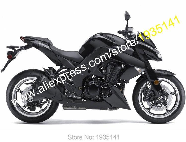 Vendite calde, per Kawasaki Z1000 2010 2011 2012 2013 Z 1000 10-13 Nero Pieno Aftermarket Moto Kit Carena (Iniezione stampaggio)
