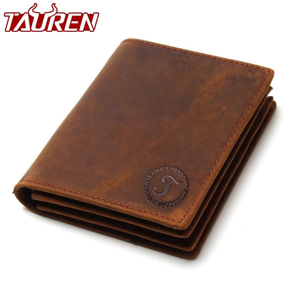 2018 Vintage Crazy Horse Handmade Leder Männer Brieftaschen Multi-Funktionale Rindsleder Geldbörse Aus Echtem Leder Brieftasche Für Männer