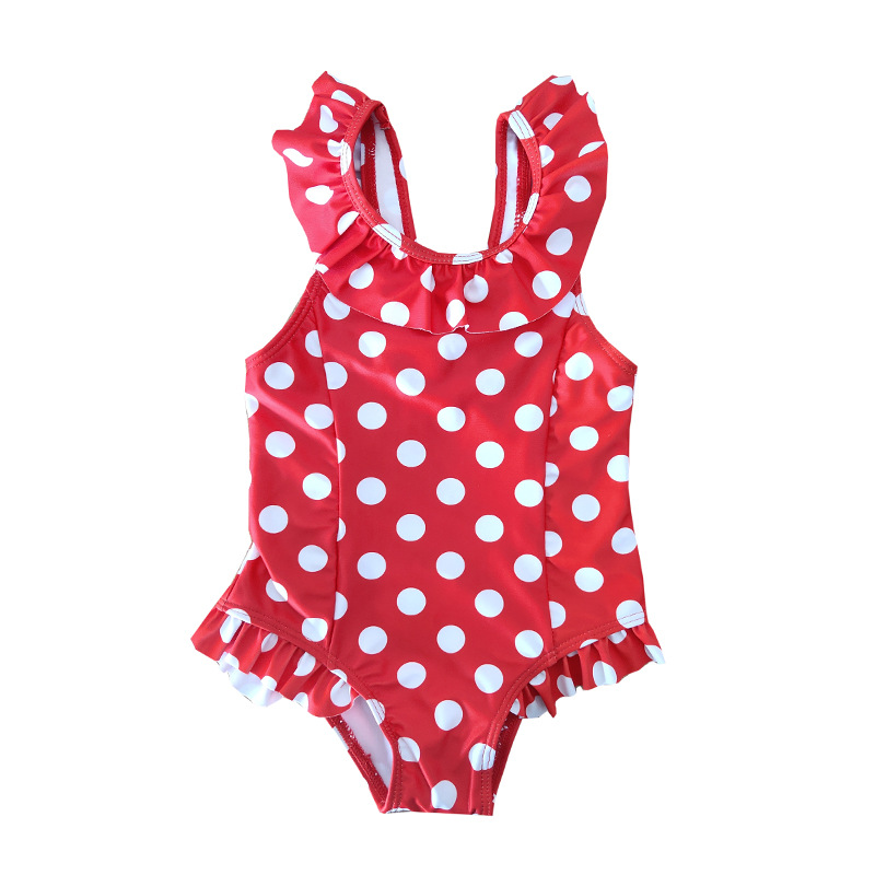 Polka Dot Bikini Mother Daughter Swimwear Family Look Mommy and Me Matching Swimsuit Outfits Mom Mum Baby Swimming Dress Clothes in Matching Family Outfits from Mother Kids