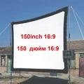 """Fuente de la fábrica 150 """"pulgadas Película HD Plegable pantalla de proyección con material de Lona 4:3 16:9 opcional, envío libre"""
