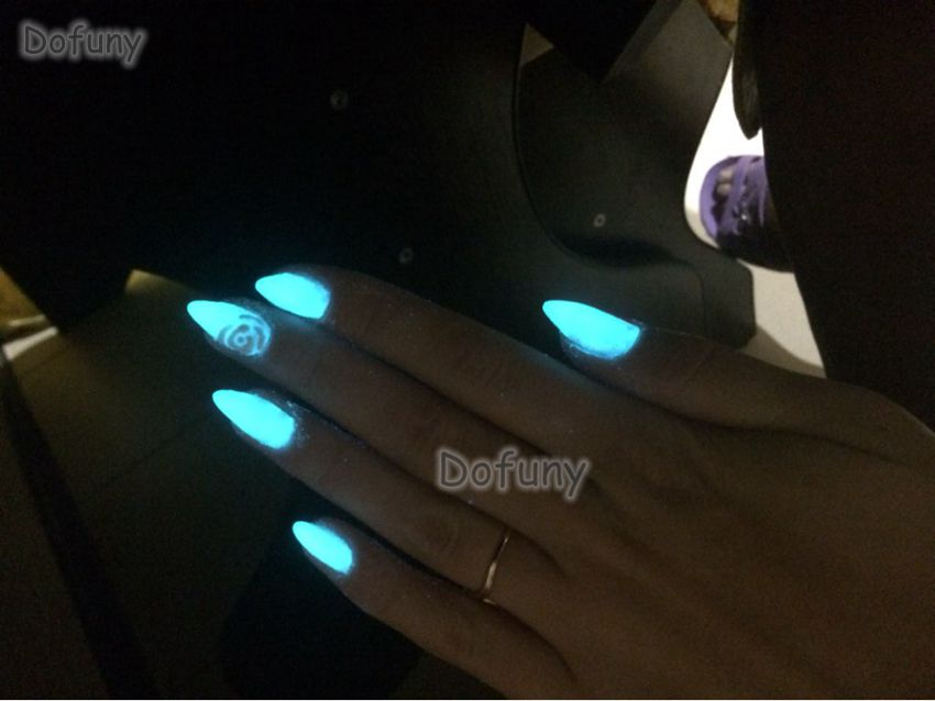 Dofuny 50g lasting luminous powder phosphor pigment Glow in the Dark Powder Paint,Nail Glitter Art Fluorescent Decoration powder