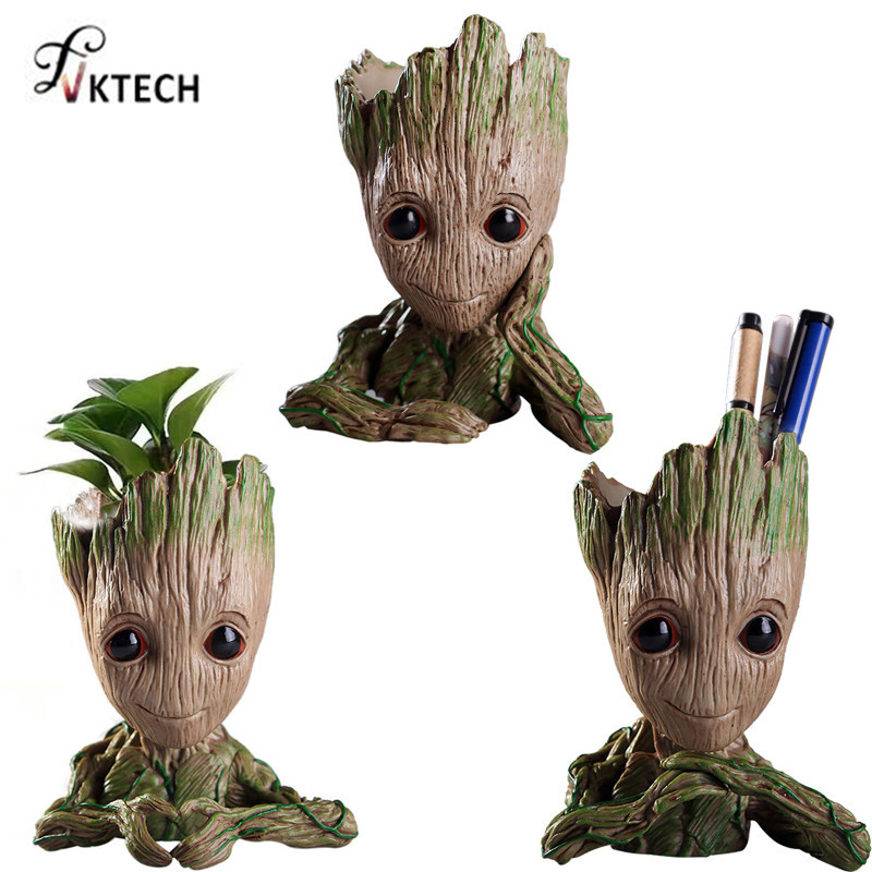 Baby Groot Flowerpot Flower Pot Planter Action Figures Guardians of The Galaxy Toy Tree Man Cute Pen Pots Dropshipping