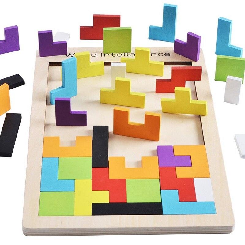 Puzzle en bois jouets Tangram Jigsaw Briques Jouet Cadeau De Noël - Jeux et casse-tête - Photo 3