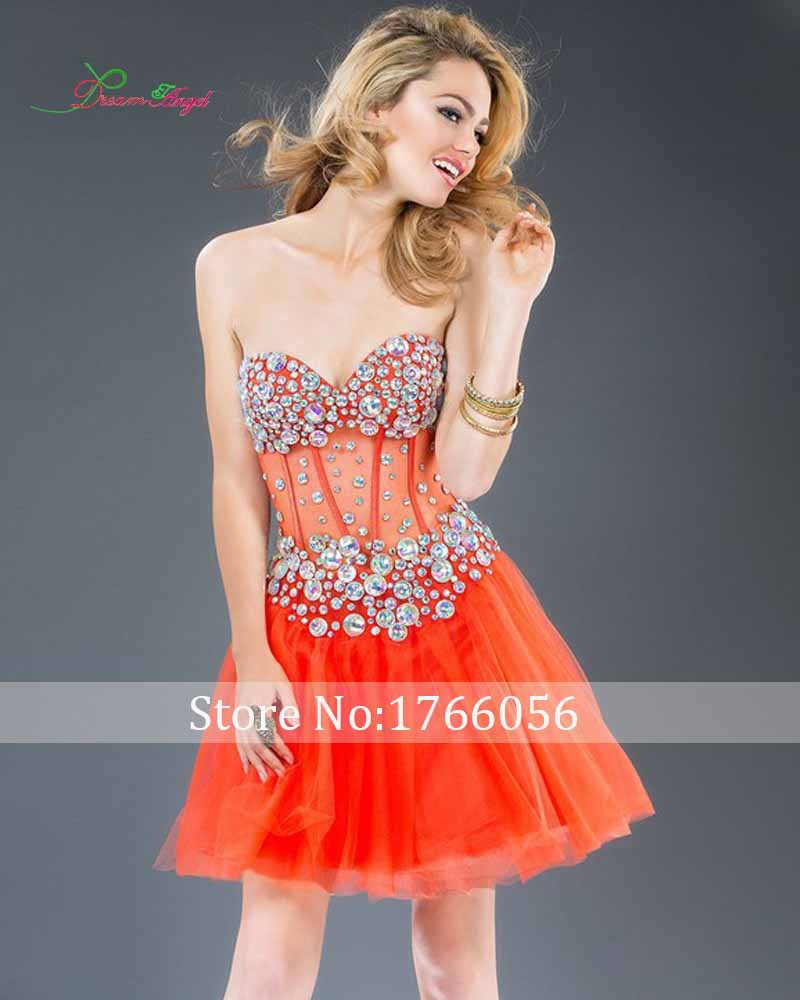 Popular Orange Semi Formal Dresses-Buy Cheap Orange Semi Formal ...