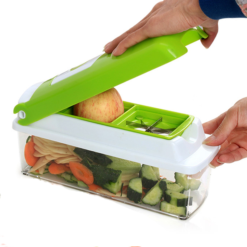 12 Em 1 Multi-Purpose Dincer Frutas Vegetais Ferramentas Slicer Cortador Peeler Acessórios de Cozinha Cozinhar Ferramentas