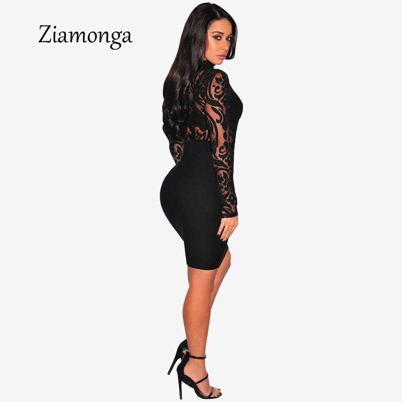 aaddfd295 Ziamonga ver a través de Sexy mujeres monos mono Bodycon transparente Body  de manga larga de las mujeres de malla mono C2915 en Mono de La ropa de las  ...