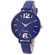 Для женщин браслет Смотреть известная марка 2018 дамы Искусственная Кожа Аналоговый кварцевые наручные часы Для женщин relojes mujer Хит продаж Новый м