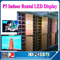 TEEHO 20pcs 0.64x0.64m P5 indoor led cabinet full color 3528SMD 1/8 scan more brighter indoor led video wall with video card