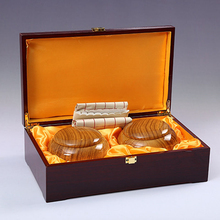 National New Yunzi Go Chess Game Set Suits Carved Gold Double Plate Wood Box Gifts Entertainment