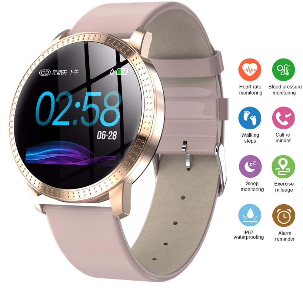 Female Fitness Smart Watch Women Running Reloj Heart Rate Monitor Bluetooth Pedometer Touch Intelligent Sports Watch for Running(China)