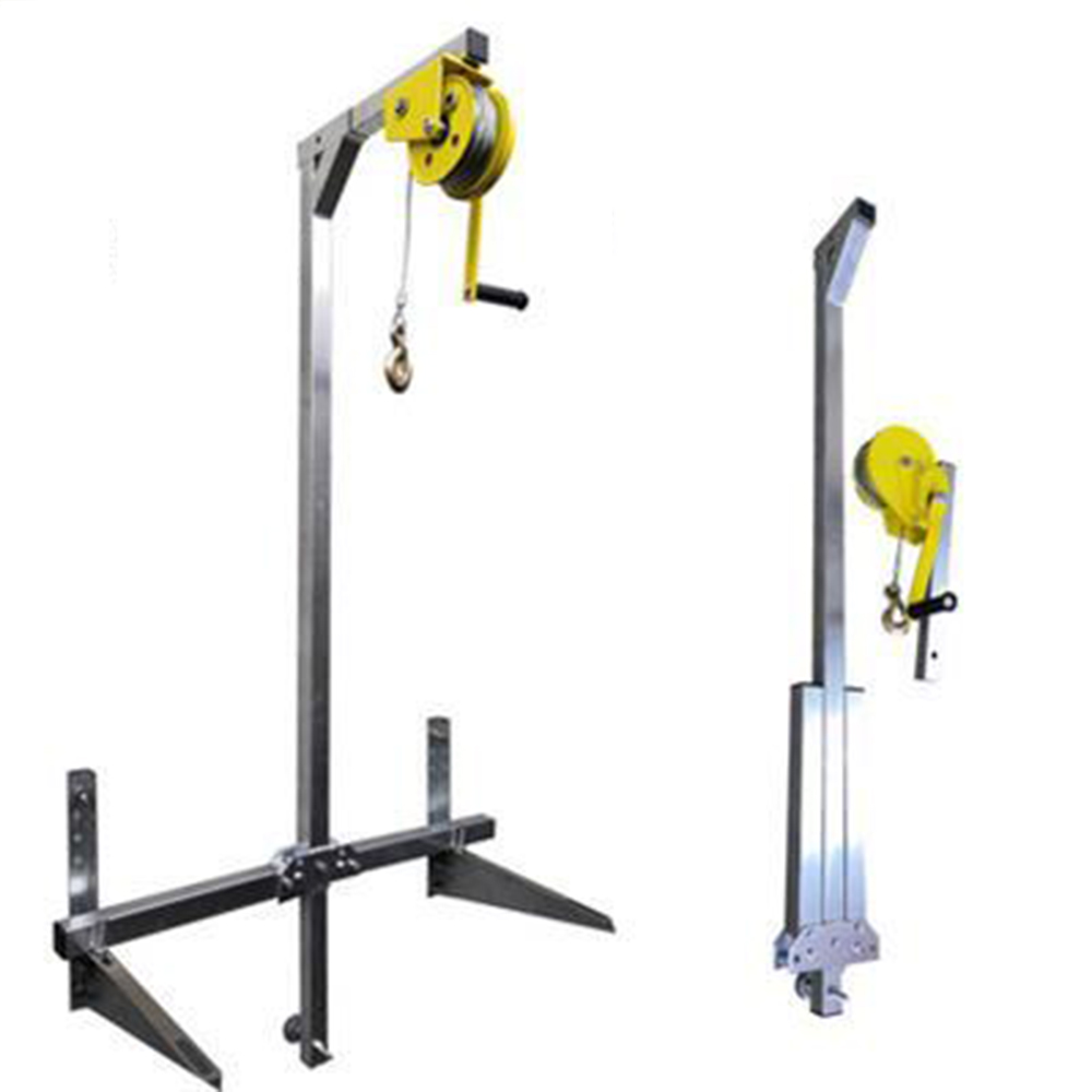 Manual Stainle, Outside Installation Lifting Tool, Crane, Folding, Self-locking Manual Winch Assembly Air Conditioner