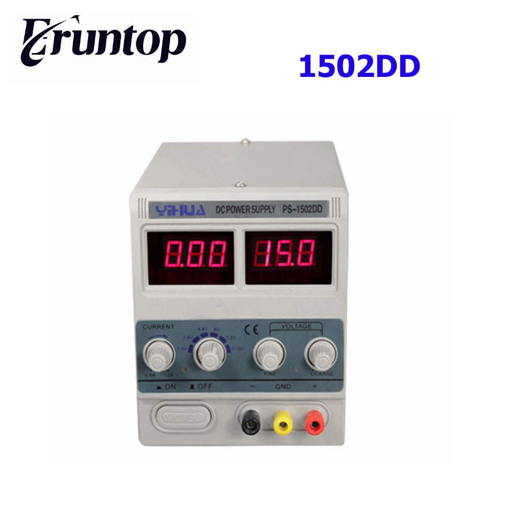 YIHUA 1502DD 15V 2A Adjustable DC Power Supply LED Display Mobile Phone Repair Power Test Regulated Power Supply