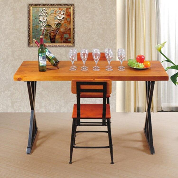 retro americana para hacer viejos de madera mesas y sillas de comedor barra de hierro forjado saln restaurante mesas de caf y sillas co en sillas de with