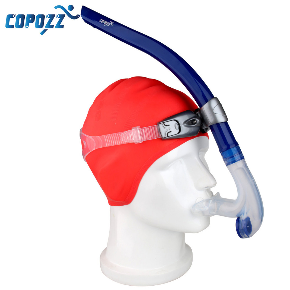 Copozz Brand Professional Open Top Snorkels Underwater Swimming Diving Snorkeling Equipment Gear