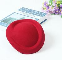 New Pure Wool Beret Caps For Women DIY Wool Hat Base Headwear Red Pink White Blue