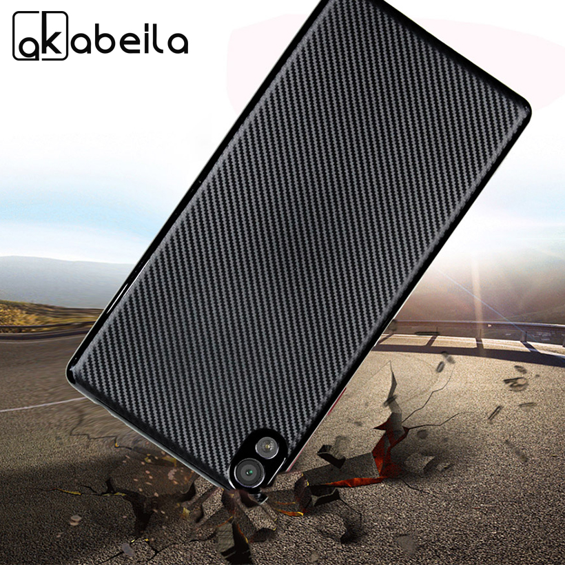 AKABEILA Mobile Phone Covers Cases For Sony Xperia XA Ultra Dual F3212 F3216 F3211 F3215 F3213 C6 Case Carbon Fiber TPU Covers