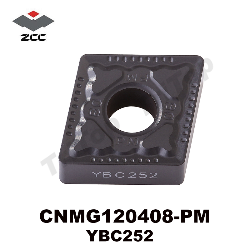 10Pcs/lot Tungsten Carbide Turning Inserts CNMG 120408 -PM For Steel YBC252  Zcc.ct  CNMG120408 Cutting Tool Cnc Plate