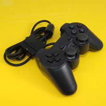 1Piece Black Wired Controller 1.8M Double Shock Remote joystick Gamepad Joypad for PlayStation 2 PS2