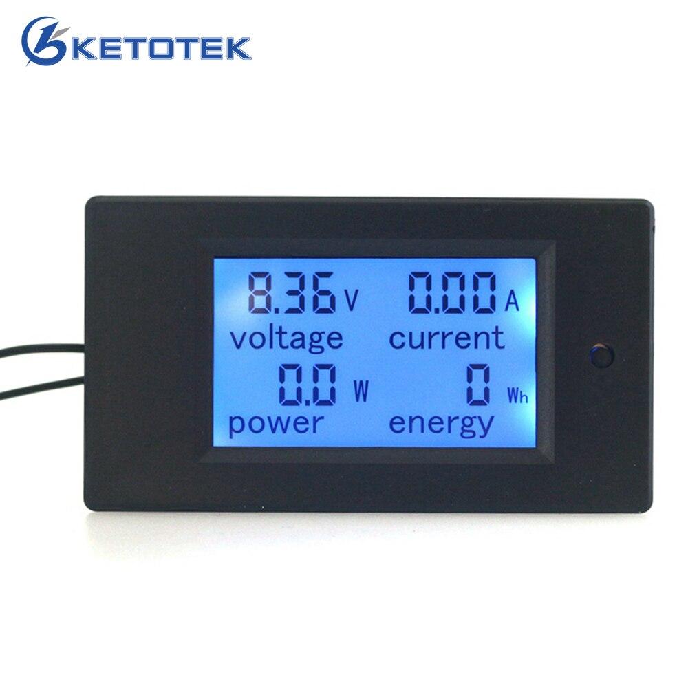 DC 6.5 ~ 100V 0 ~ 20A Digital LCD Volt Volt AMP Voltmetro Il modulo misuratore di energia di potenza dell'amperometro mostra V A W Wh