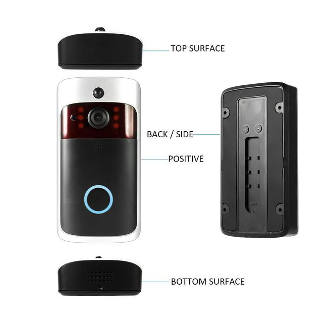 Smart Wireless WiFi Security DoorBell Visual Recording Consumption Remote Home Monitoring Night Vision Smart Video Door Phone 3
