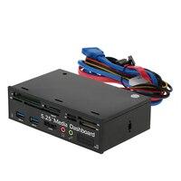 Multi-Funzione di lettore di Schede USB 3.0 Hub eSATA Port Interno Dashboard Media Audio del Pannello Frontale per SD MS CF TF M2 MMC Schede di Memoria